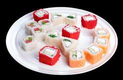Ensemble délicieux de petits pains de sushi Photos libres de droits