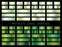 Ensemble d'échantillons métalliques assortis de label, illustration de vecteur Image stock