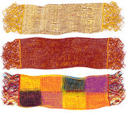 Ensemble d'écharpes de laine colorées Photographie stock libre de droits