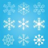 Ensemble d'éclailles de neige de vecteur Image libre de droits