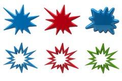 Ensemble d'éclater des étoiles illustration stock