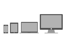 Ensemble d'écrans Photographie stock libre de droits