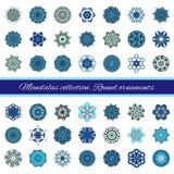 Ensemble d'élément abstrait de conception Mandalas ronds dans le vecteur Calibre graphique pour votre conception Rétro ornement d illustration stock