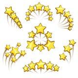 Ensemble d'élément d'or de conception d'étoiles illustration de vecteur