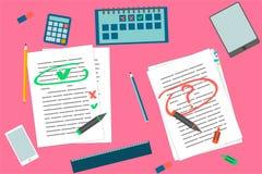 Ensemble d'éléments d'éducation d'étudiants illustration de vecteur
