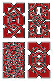 Ensemble d'éléments celtiques de conception de vecteur Photos stock