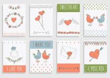 Ensemble d'éléments décoratif d'amour Image stock