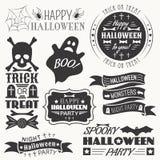 Ensemble d'éléments décoratifs de Halloween Photo libre de droits