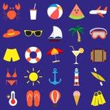 Ensemble d'éléments d'été Illustration de vecteur Image stock