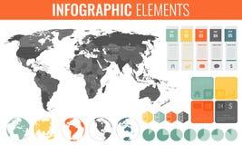 Ensemble d'éléments d'Infographic Carte du monde, marqueurs, diagrammes et d'autres éléments Affaires Infographic Vecteur Photographie stock