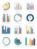 Ensemble d'éléments d'infographics Photographie stock libre de droits
