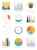 Ensemble d'éléments d'infographics Photos libres de droits