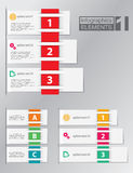 Ensemble d'éléments d'infographics Photos stock