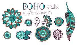 Ensemble d'éléments de Boho Photo stock