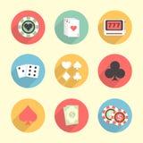 Ensemble d'éléments de casino Images libres de droits