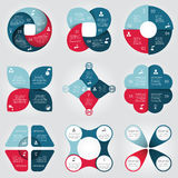 Ensemble d'éléments de cercle de vecteur pour infographic illustration stock