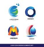 Ensemble d'éléments de conception d'icône de logo illustration stock
