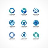 Ensemble d'éléments de conception d'icône Idées abstraites de logo pour des concepts de société commerciale Photos libres de droits
