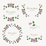 Ensemble d'éléments de conception de fleurs illustration libre de droits
