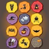 Ensemble d'éléments de conception de vecteur pour Halloween Image libre de droits