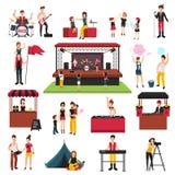 Ensemble d'éléments de festival de musique illustration libre de droits