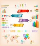 Ensemble d'éléments de graphiques d'infos. Image libre de droits