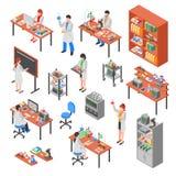 Ensemble d'éléments de laboratoire de la Science illustration stock