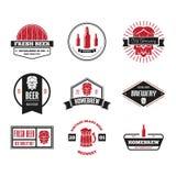 Ensemble d'éléments de logo, d'insigne, d'emblème ou de logotype de vintage pour la bière, la boutique, le brew à la maison, la t illustration de vecteur