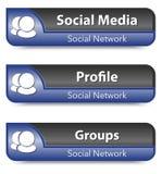 Ensemble d'éléments de réseau sociaux illustration stock