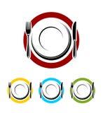Ensemble d'éléments de restaurant Image stock