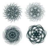 Ensemble d'éléments de spirograph Image libre de droits