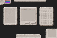 Ensemble d'éléments en pierre d'interface Photos stock