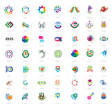 Ensemble d'éléments et d'icônes colorés abstraits de conception Photographie stock libre de droits