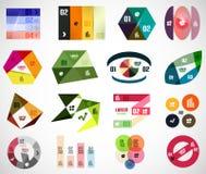 Ensemble d'éléments et de calibres infographic de bannière Photographie stock libre de droits