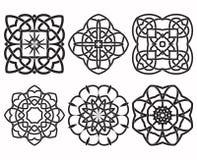 Ensemble d'éléments géométriques de conception de noeud Photo stock