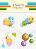 Ensemble d'éléments infographic d'affaires Illustration Libre de Droits