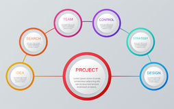 Ensemble d'éléments d'Infographic Disposition de déroulement des opérations, diagramme, rapport annuel, web design, présentation Image libre de droits