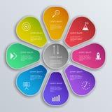 Ensemble d'éléments d'Infographic Disposition de déroulement des opérations, diagramme, rapport annuel, web design, présentation Photo libre de droits