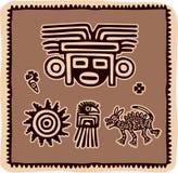 Ensemble d'éléments mexicains de conception illustration libre de droits
