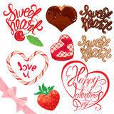 Ensemble d'éléments pour la conception de jour de valentines Image stock