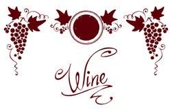 Ensemble d'éléments pour une étiquette de vin Photographie stock libre de droits