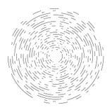 Ensemble d'éléments ronds de vecteur des lignes de diverse épaisseur, formant une illusion optique illustration libre de droits