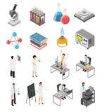 Ensemble d'éléments scientifique de laboratoire illustration libre de droits