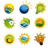 ENSEMBLE d'éléments SOLAIRES Photographie stock