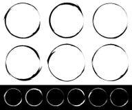 Ensemble d'éléments texturisés, approximatifs et sales d'isolement sur le blanc EL Photographie stock libre de droits