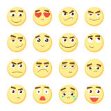 Ensemble d'émoticône Collection d'emoji émoticônes 3D Icônes souriantes de visage sur le fond blanc Vecteur Photos libres de droits