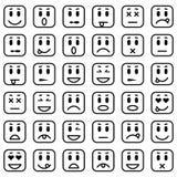 Ensemble d'émoticônes carrées Photographie stock
