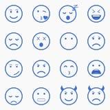 Ensemble d'émoticônes Ensemble d'Emoji Ensemble d'avatar Image libre de droits