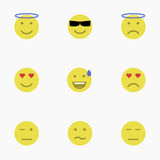 Ensemble d'émoticônes Ensemble d'Emoji Ensemble d'avatar Photos stock
