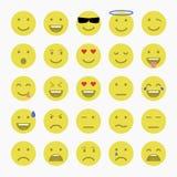 Ensemble d'émoticônes Ensemble d'Emoji Ensemble d'avatar Image stock
